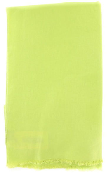 "New $250 Luigi Borrelli Green Solid Long Scarf - 68"" x 27"" - (LBSS12183)"