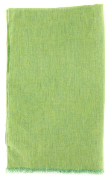 "New $250 Luigi Borrelli Green Solid Long Scarf - 64"" x 27"" - (LBSS12204)"
