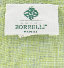 "New $250 Luigi Borrelli Green Solid Long Scarf - 62"" x 27"" - (LBSS1224)"