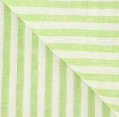 "New $250 Luigi Borrelli Green Striped Long Scarf - 70"" x 27"" - (LBSS12162)"