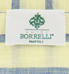 "New $250 Luigi Borrelli Green Striped Long Scarf - 54"" x 27"" - (LBSS12164)"