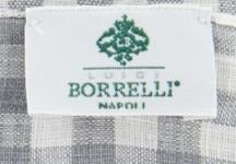 "New $250 Luigi Borrelli Gray Check Long Scarf - 27"" x 60"" - (LBSS1260)"