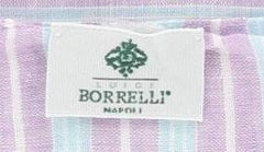 "$250 Luigi Borrelli Lavender Purple Striped Long Scarf - 60"" x 27"" - (LBSS1282)"