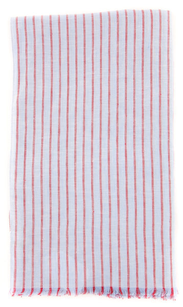 "New $250 Luigi Borrelli Light Blue Striped Long Scarf - 76"" x 27"" - (LBSS12125)"