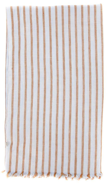 "New $250 Luigi Borrelli Light Blue Striped Long Scarf - 70"" x 27"" - (LBSS12189)"