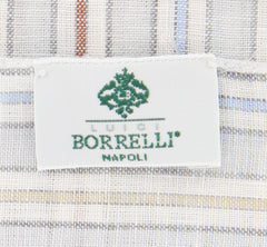 Luigi Borrelli Light Gray Linen Scarf  Accessory - ShopTheFinest- Luxury  Italian Designer Brands for men