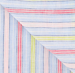 "$250 Luigi Borrelli Multi-Colored Striped Long Scarf - 58"" x 27"" - (LBSS12167)"