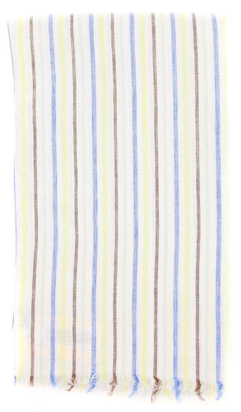 "$250 Luigi Borrelli Multi-Colored Striped Long Scarf - 64"" x 27"" - (LBSS12188)"