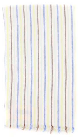 Luigi Borrelli Multi-Colored Linen Scarf