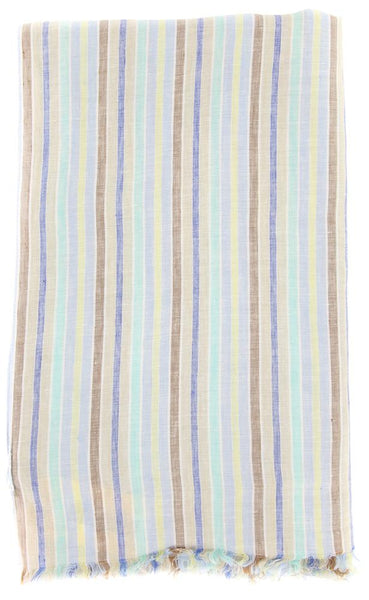 "$250 Luigi Borrelli Multi-Colored Striped Long Scarf - 68"" x 27"" - (LBSS12200)"