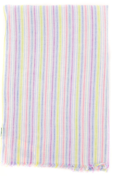 "$250 Luigi Borrelli Multi-Colored Striped Long Scarf - 78"" x 27"" - (LBSS12222)"