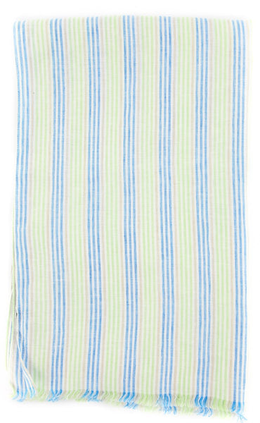 "$250 Luigi Borrelli Multi-Colored Striped Long Scarf - 76"" x 27"" - (LBSS1278)"
