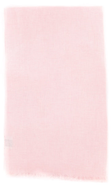 "New $250 Luigi Borrelli Pink Micro-Check Long Scarf - 72"" x 27"" - (LBSS1264)"