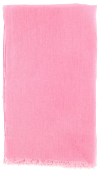"New $250 Luigi Borrelli Pink Solid Long Scarf - 54"" x 27"" - (LBSS1235)"