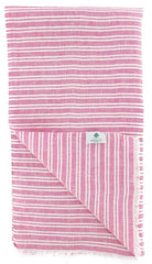 "New $250 Luigi Borrelli Pink Striped Long Scarf - 52"" x 27"" - (LBSS12144)"