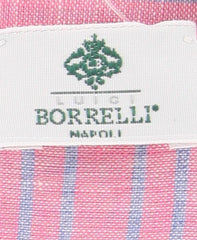 "New $250 Luigi Borrelli Pink Striped Long Scarf - 58"" x 27"" - (LBSS12219)"