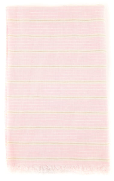 "New $250 Luigi Borrelli Pink Striped Long Scarf - 54"" x 27"" - (LBSS12168)"