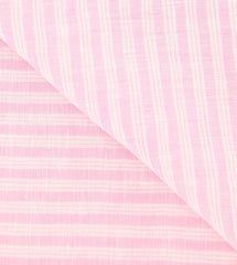 "New $250 Luigi Borrelli Pink Striped Long Scarf - 68"" x 27"" - (LBSS12190)"