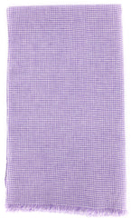 "New $250 Luigi Borrelli Purple Micro-Check Long Scarf - 70"" x 27"" - (LBSS1239)"