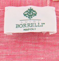 "New $250 Luigi Borrelli Red Solid Long Scarf - 76"" x 27"" - (LBSS12211)"