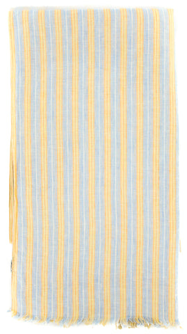 Luigi Borrelli Light Blue Linen Scarf