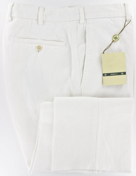 New $450 Luigi Borrelli White Pants 44/60