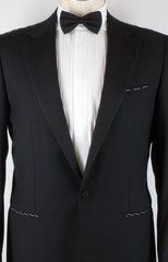 $3600 Luigi Borrelli Black Tuxedo Jacket Size 2XL (US) / 56 (EU)