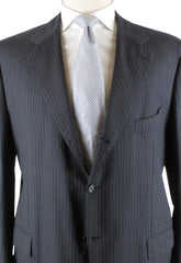 New $4200 Luigi Borrelli Gray Suit 60/70