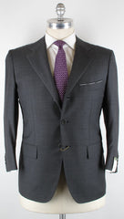 New $4200 Luigi Borrelli Gray Suit 46/56