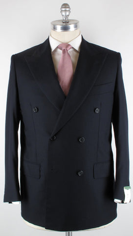 Luigi Borrelli Navy Blue Suit – Size: 46 US / 56 EU