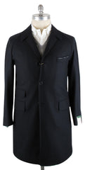 $3600 Luigi Borrelli Navy Blue Coat Size XL (US) / 54 (EU)