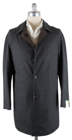 Luigi Borrelli Gray Coat – Size: 38 US / 48 EU
