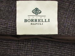 $3600 Luigi Borrelli Brown Coat Size 2XL (US) / 56 (EU)