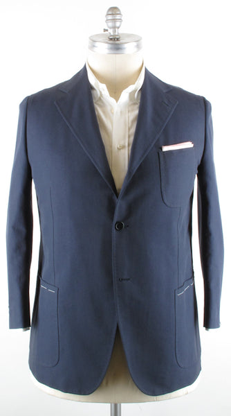 New $2000 Luigi Borrelli Navy Blue Sportcoat 46/56