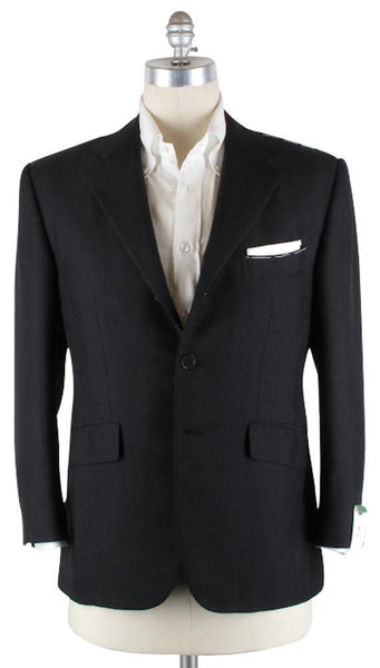 New $3600 Luigi Borrelli Black Sportcoat 40/50