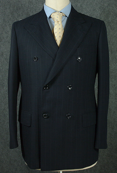 New $3500 Stile Latino Navy Blue Suit 40/50