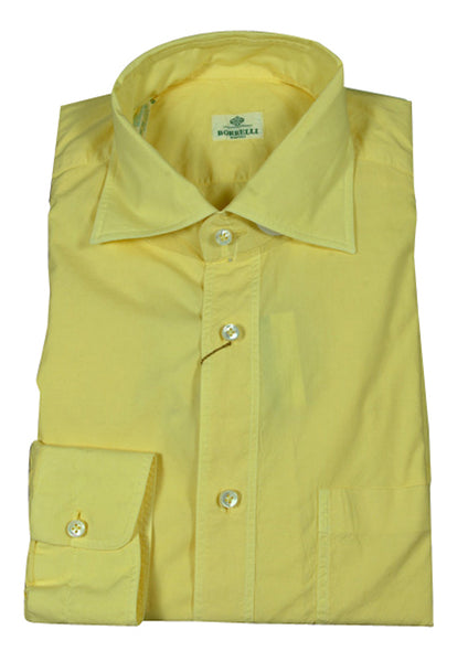 New $400 Luigi Borrelli Yellow Shirt M/M - ** SALE **