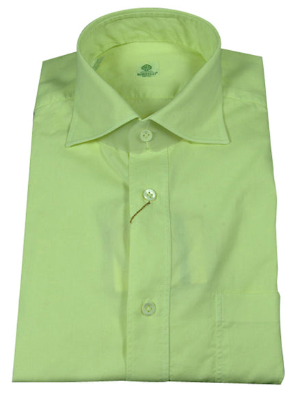 New $395 Luigi Borrelli Green Shirt Medium/Medium - ** SALE **
