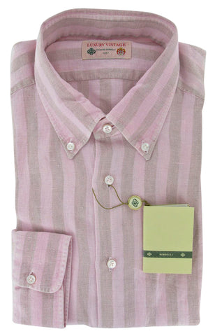 Luigi Borrelli Pink Shirt – Size: Medium US