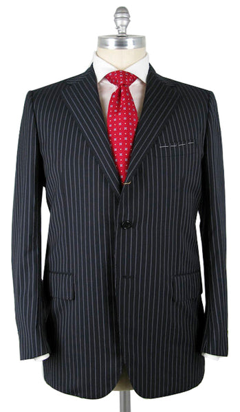 Luigi Borrelli Navy Blue Suit – Size: 44 US / 54 EU
