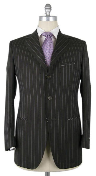 New $4200 Luigi Borrelli Brown Suit 40/50