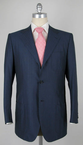 Luigi Borrelli Blue Suit – Size: 42 US / 52 EU