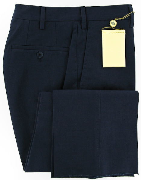 New $450 Borrelli Navy Blue Pants 42/58