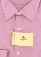 New $450 Borrelli Lavender Purple Shirt - Extra Slim - 15.75/40 - EV5092ANTONIO