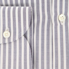 New $450 Luigi Borrelli Midnight Navy Blue Shirt - 16/41 - (EV64680GIANNI)