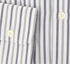 New $450 Borrelli Gray Striped Shirt - Extra Slim - 15.75/40 - (EV64770HILL)