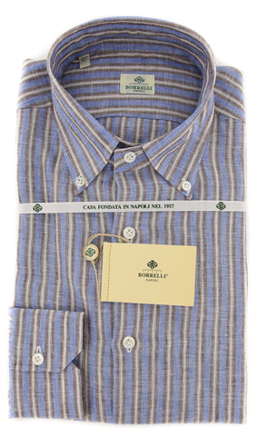 Luigi Borrelli Blue Shirt - 15.75 US / 40 EU