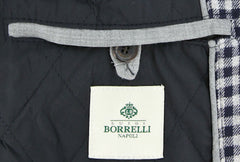 $975 Luigi Borrelli Navy Blue Jacket Size 40 (US) / 50 (EU)