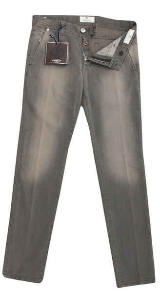 New $350 Luigi Borrelli Gray Zipper Fly Pants - Slim Fit - 33/49