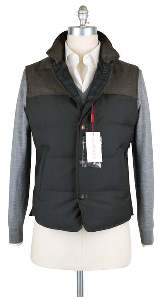 New $2825 Luciano Barbera Green Solid Vest -  46/56 - (1080593588036)